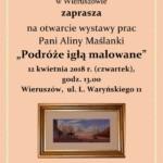 Wystawa Podróże Igłą Malowane